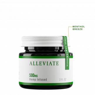 Colorado Botanicals 500mg Alleviate CBD Rich Hemp-infused topical gel cream for pain and inflammation
