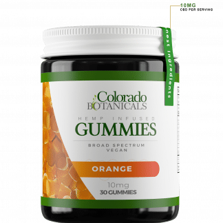 Broad Spectrum CBD Vegan Gummies 10mg Orange Flavor