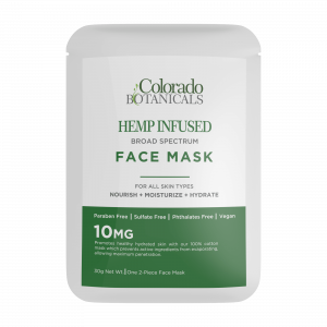 CBD Face Mask Sheet hemp-infused paraben free sulfate free vegan and phthalates free